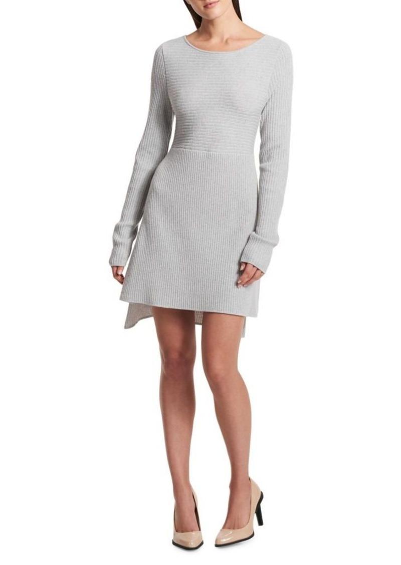 0f5faeeeb9 SALE! DKNY Donna Karan Mixed Rib-Knit Dress