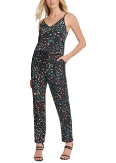 Dkny Multicolor Drawstring Jumpsuit