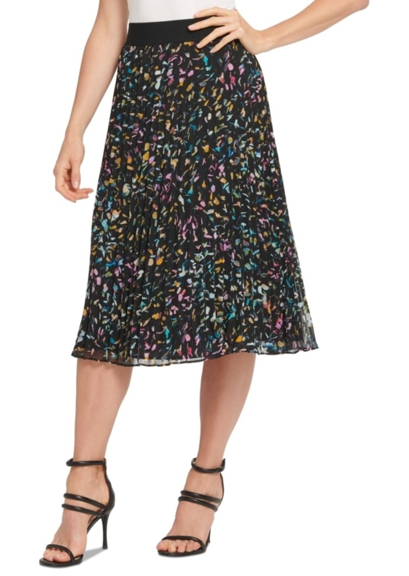Dkny Multicolor Mesh Skirt