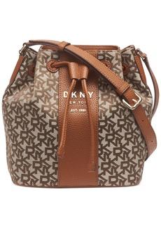 Dkny Noho Drawstring Logo Bucket Bag, Created For Macy's