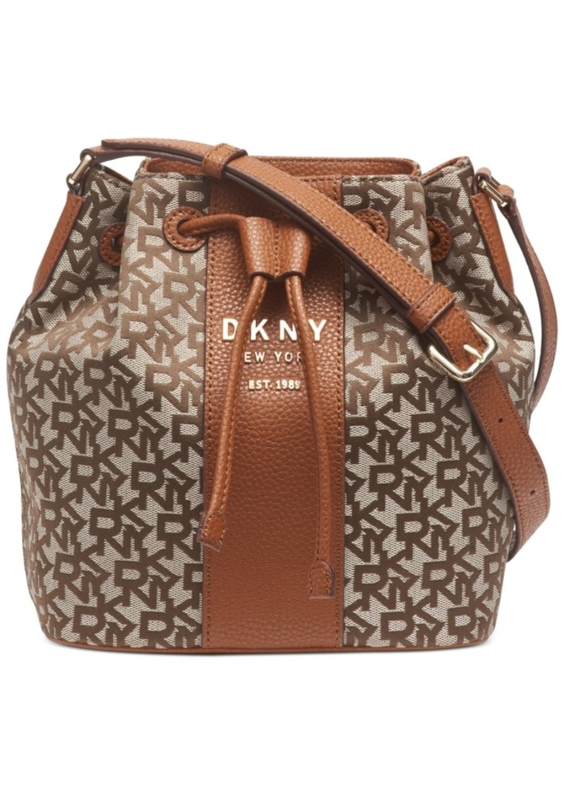 Dkny Noho Drawstring Logo Bucket Bag, Created For Macy's