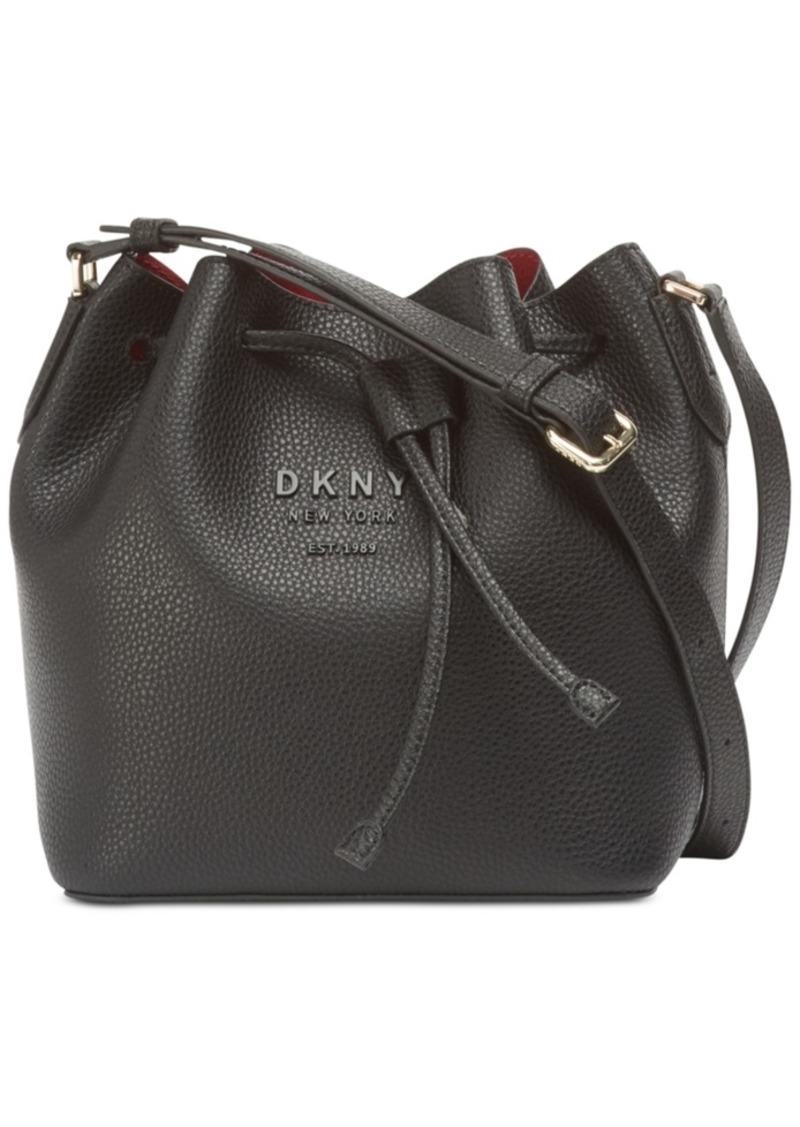 Dkny Noho Leather Drawstring Bucket Bag, Created for Macy's