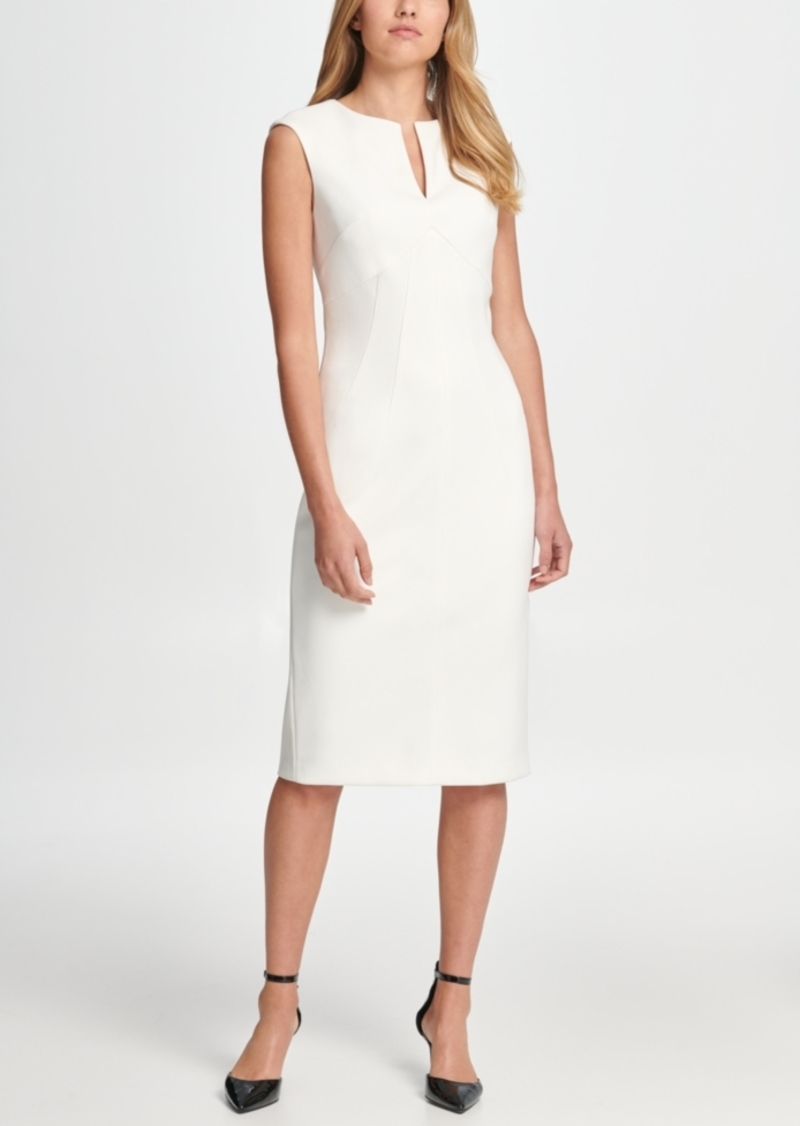 Dkny Notch Neck Compression Sheath Dress