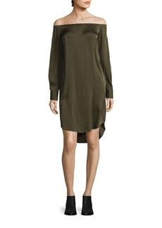 DKNY Off-the-Shoulder Silk Blend Dress