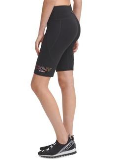Dkny Ombre-Logo Bike Shorts