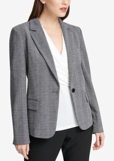 Dkny One-Button Blazer, Created for Macy's