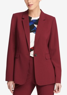 Dkny One-Button Notch-Collar Jacket, Created for Macy's