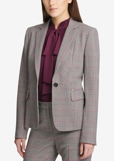 Dkny One-Button Plaid Jacket, Created for Macy's