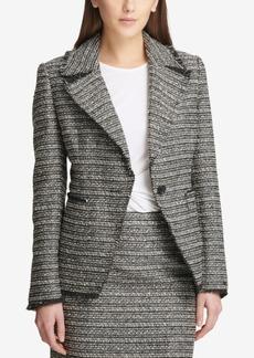 Dkny One-Button Tweed Blazer, Created for Macy's