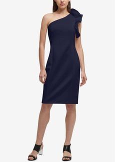 Dkny One-Shoulder Sheath Dress, Created for Macy's