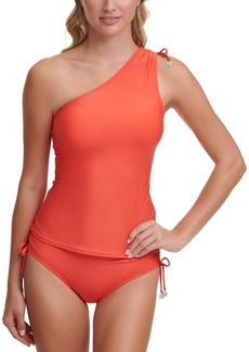 Dkny One Shoulder Tankini Top Women's Swimsuit
