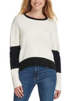 Dkny Oversized Eyelash-Trim Sweater