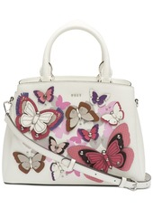 Dkny Paige Leather All Over Butterfly Garden Satchel, Created for Macy's