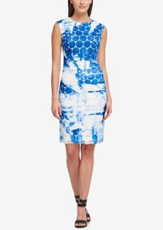 Dkny Painted Circle-Lace Sheath Dress, Created for Macy's
