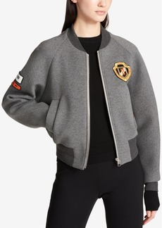 Dkny Patched Bomber Jacket