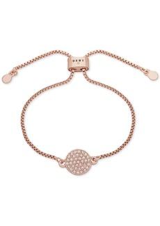 Dkny Pave Disc Slider Bracelet, Created for Macy's