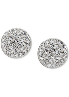 Dkny Pave Disc Stud Earrings, Created for Macy's