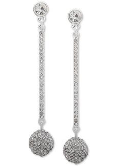 Dkny Pave Fireball Linear Drop Earrings, Created for Macy's