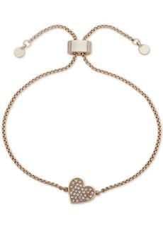 Dkny Pave Heart Slider Bracelet, Created for Macy's