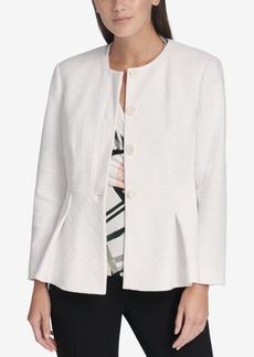 Dkny Peplum-Hem Button-Up Jacket