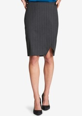 Dkny Pinstriped Pencil Skirt