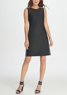 Dkny Plaid Side Stripe Shift Dress