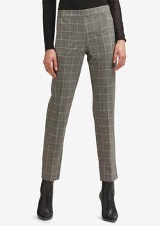 Dkny Plaid Straight-Leg Pants, Created for Macy's