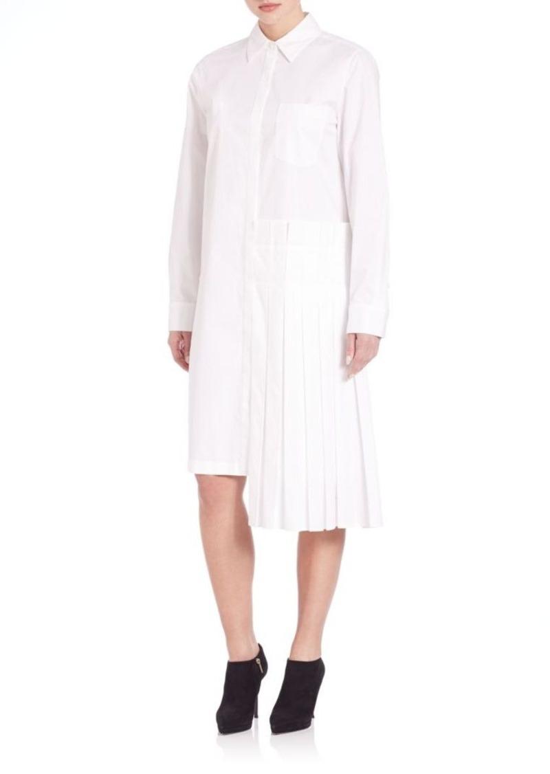 DKNY Pleat-Detail Shirtdress