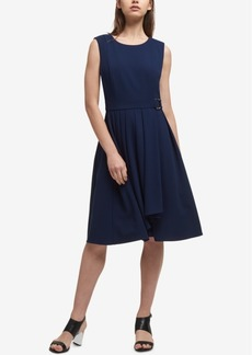 Dkny Pleated A-Line Dress, Created for Macy's
