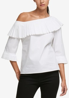 Dkny Pleated Off-The-Shoulder Top, Created for Macy's