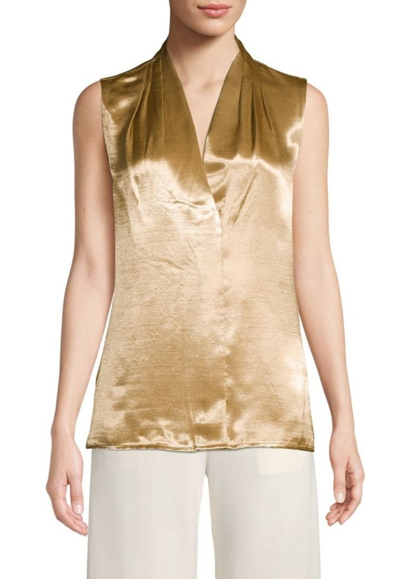 DKNY Donna Karan Pleated Sleeveless Top
