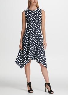 Dkny Polka Dot Handkerchief Hemline Dress