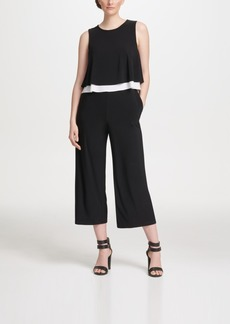 Dkny Popover Cropped Jersey Jumpsuit