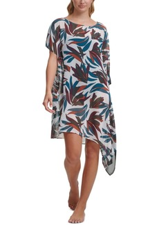 Dkny Printed Asymmetrical Kaftan Cover-Up Dress Women's Swimsuit