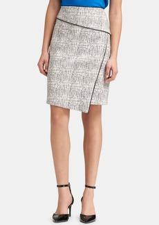 Dkny Printed Asymmetrical Pencil Skirt