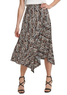 Dkny Printed Asymmetrical Skirt