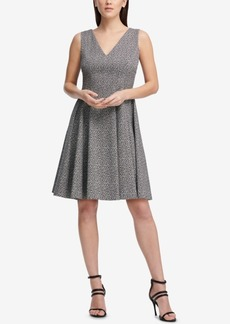 Dkny Printed Fit & Flare Dress, Created for Macy's