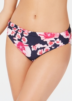Dkny Printed Fold-Over Bikini Bottoms, Created for Macy's Women's Swimsuit