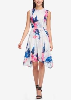 Dkny Printed Handkerchief-Hem Dress, Created for Macy's