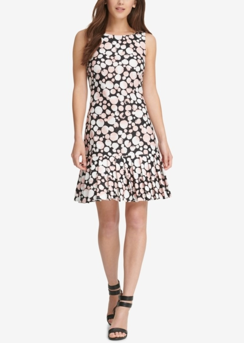 Dkny Printed Pleated Dress, Created for Macy's