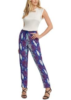 Dkny Printed Pull-On Pants