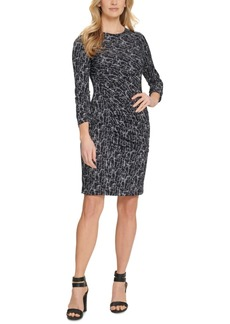Dkny Printed Ruched Dress