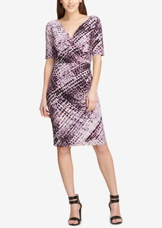 Dkny Printed Ruched Sheath Dress, Created for Macy's