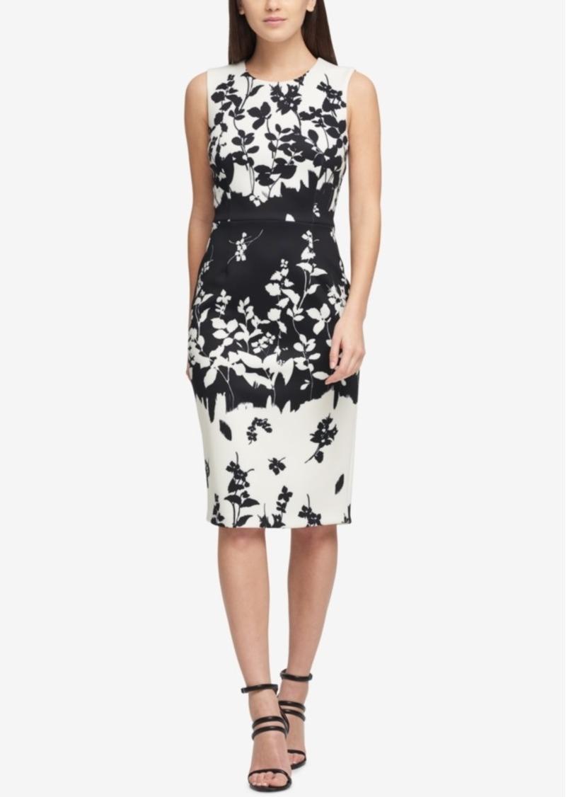 Dkny Dkny Printed Scuba Sheath Dress Created For Macy S