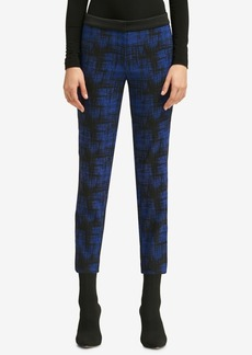 Dkny Printed Skinny Ankle Pants, Created for Macy's