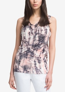 Dkny Printed Sleeveless Top