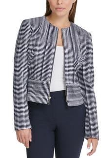Dkny Printed Zippered Jacket