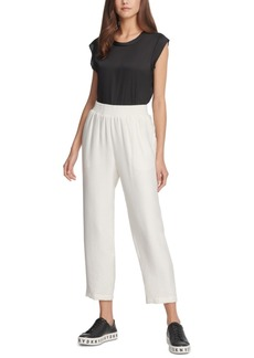 Dkny Pull-On Cropped Pants
