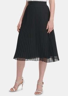 Dkny Midi Pleated Skirt