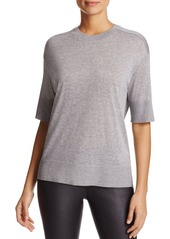 DKNY Pure Elbow-Sleeve Crewneck Tee